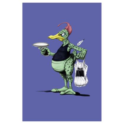Space Duck ~ Colour Animal Behaviour Art Print