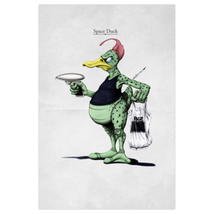 Space Duck ~ Title Animal Behaviour Art Print