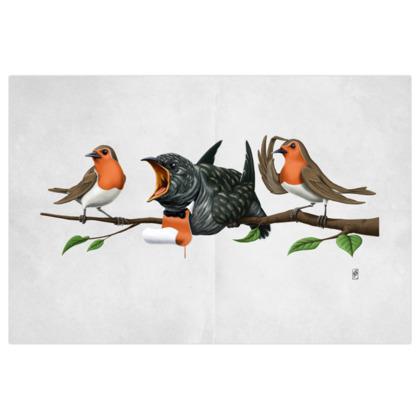 Cock Robin ~ Wordless Animal Behaviour Art Print