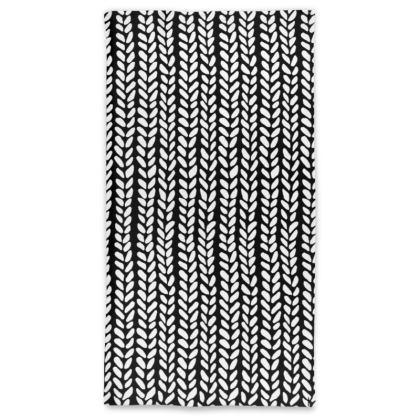 Knit Wave Neck Tube Scarf