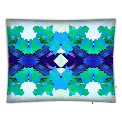 Blue Lagoon Gladioli Giant Floor Cushion