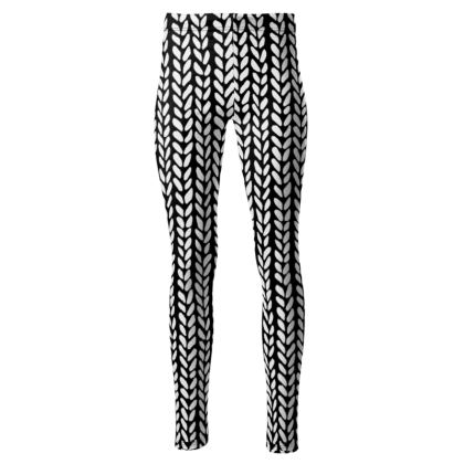 Knit Wave High Wasted Leggings