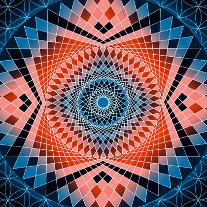 Flip Flops Red Mandala