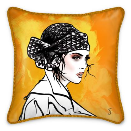Autumn Love Silk Cushion