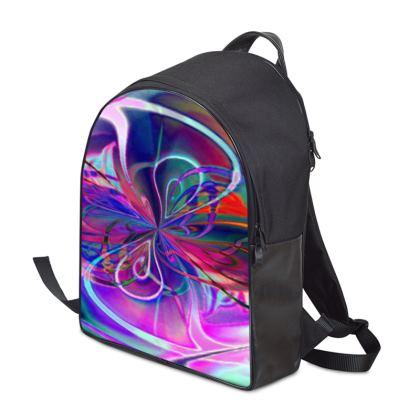 Backpack Purple Flower