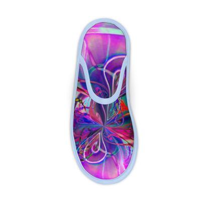 Slippers Purple Flower