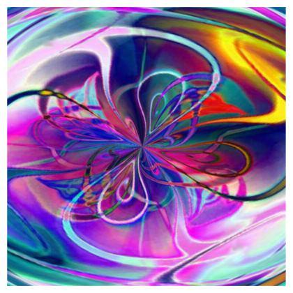 Ladies T Shirt Purple Flower