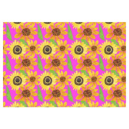 Naive Sunflowers On Fuchsia Occasional Chair