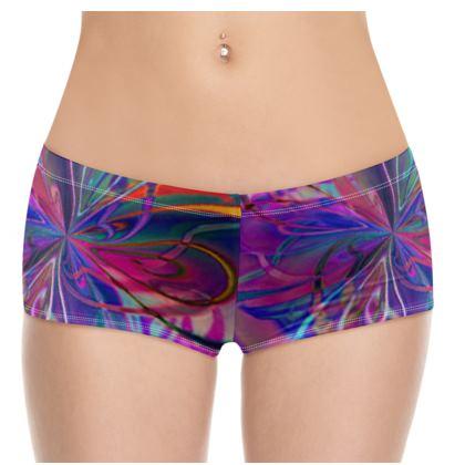 Hot Pants Purple Flower