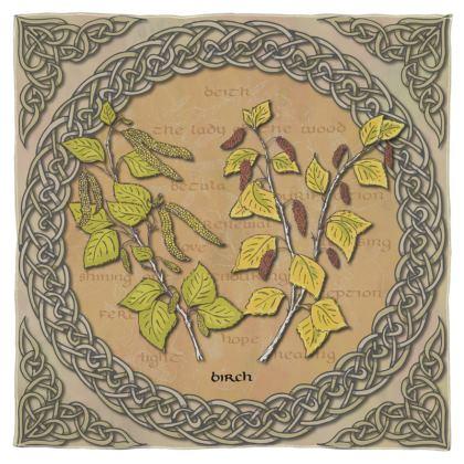 Celtic Birch Scarf, Wrap or Shawl