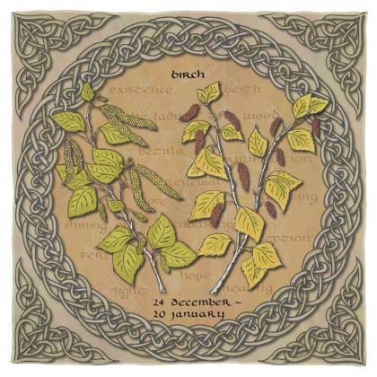 Tree Calendar Birch Scarf, Wrap or Shawl
