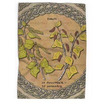 Tree Calendar Birch Tea Towel