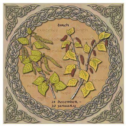 Tree Calendar Birch Cushion