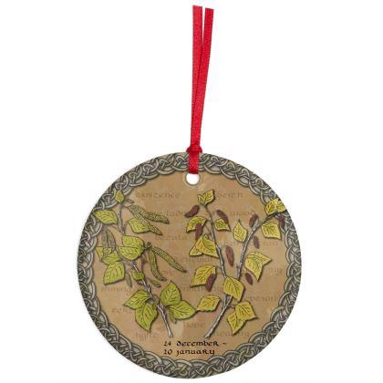 Tree Calendar Birch Hanging Ornament