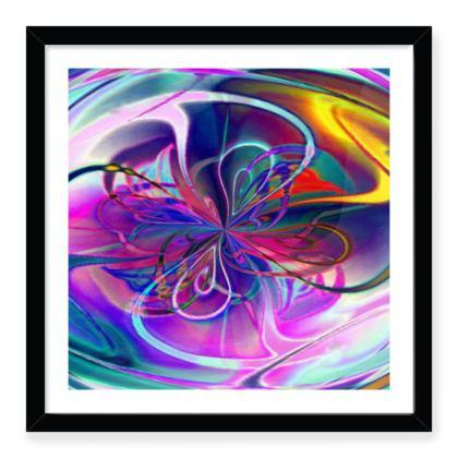 Framed Art Prints Purple Flower