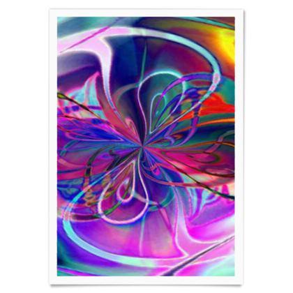 Paper Posters Purple Flower