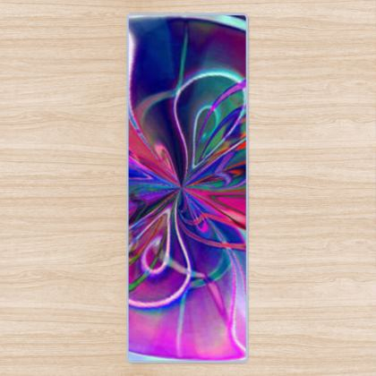 Yoga Mat purple Flower