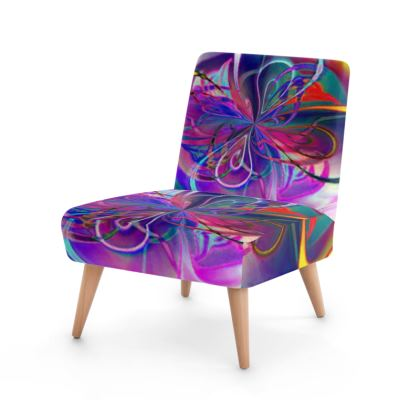 Occasional Chair Purple Flower