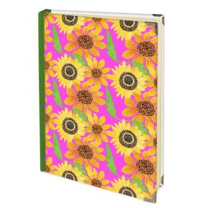 Naive Sunflowers On Fuchsia Address Book