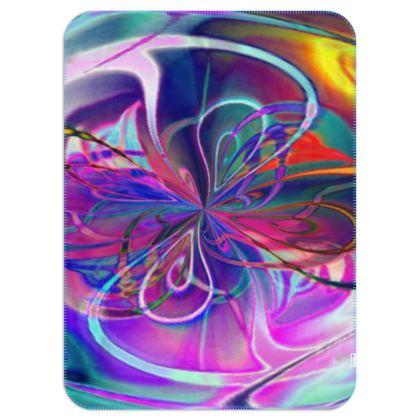 Single Layer Blankets Purple Flower