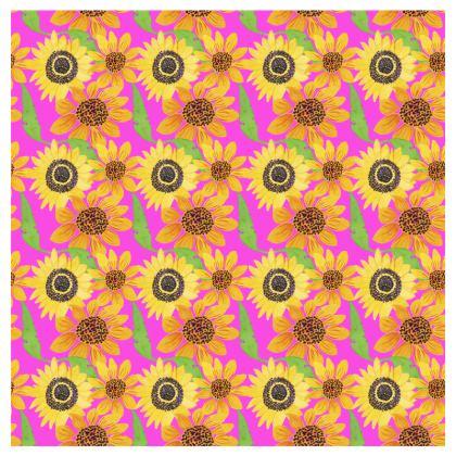 Naive Sunflowers On Fuchsia Travel Wallet