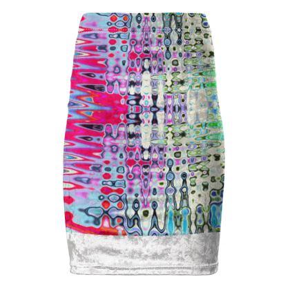 Pencil Skirt Love Splashes