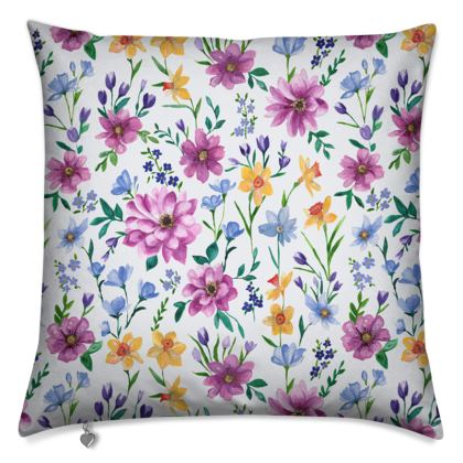 Floral Cushion, Beautiful Blooms Design