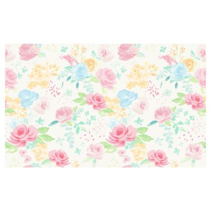 Summer Floral Zip Top Handbag