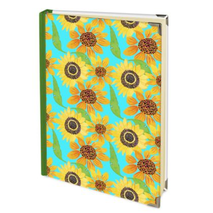 Naive Sunflowers On Turquoise Address Book