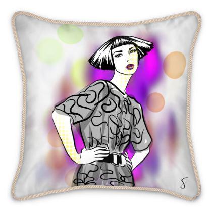 Pop girl Silk Cushion