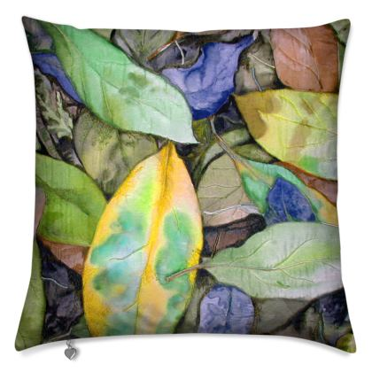 Autumn Leaf Green Cushion