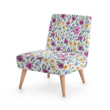 Floral Occasional Chair, Beautiful Blooms Design