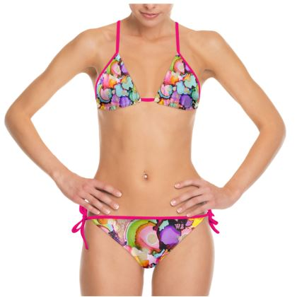 Thrill Bikini (Pink Binding)