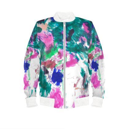 Multicolour Ladies Bomber Jacket
