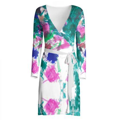 Multicolour Wrap Dress