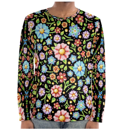 Millefiori Flowers Long Sleeve Shirt