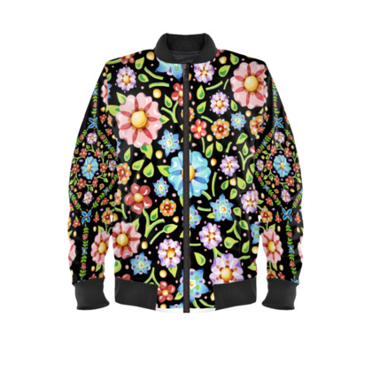 Millefiori Flowers Mens Bomber Jacket