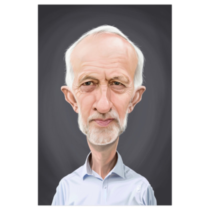 Jeremy Corbyn Celebrity Caricature Art Print