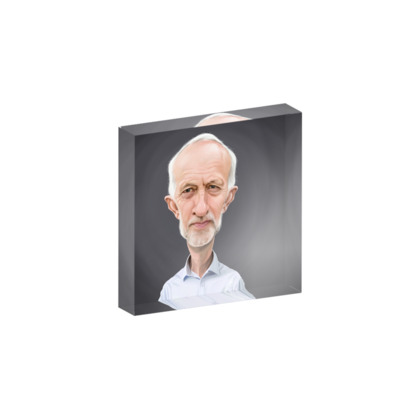 Jeremy Corbyn Celebrity Caricature Acrylic Photo Blocks