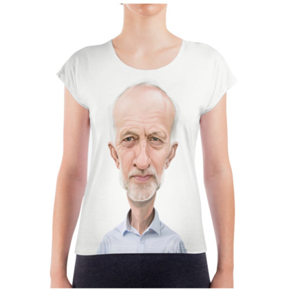 Jeremy Corbyn Celebrity Caricature Ladies T Shirt