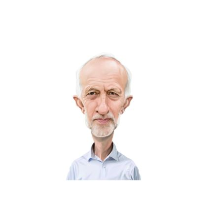 Jeremy Corbyn Celebrity Caricature Ladies Cut and Sew Vest