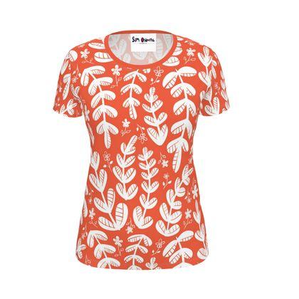 Red Leaves Ladies T-Shirt