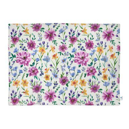 Floral Blanket, Beautiful Blooms Design