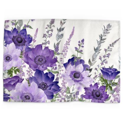 The Morning Anemone Patch Tea Towel