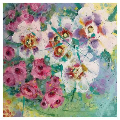 Pink Bells Cushion by Alison Gargett