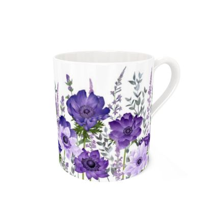 Bone China Mug - The Morning Anemone Patch
