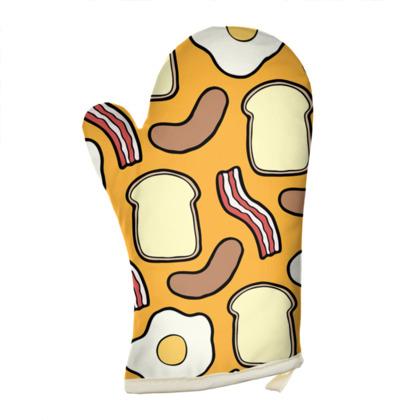 Breakfast Pattern Oven Glove