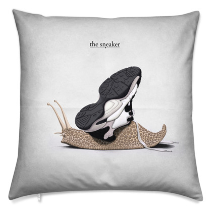 The Sneaker ~ Title Animal Behaviour Cushion