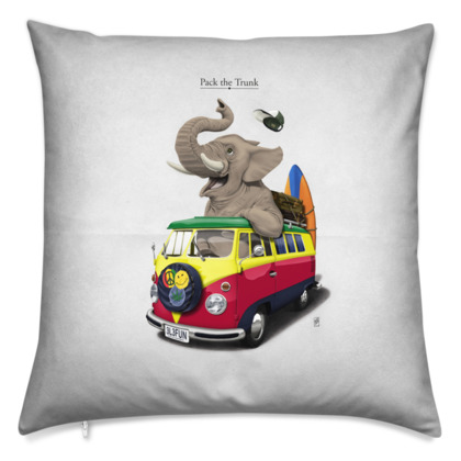 Pack the Trunk ~ Title Animal Behaviour Cushion