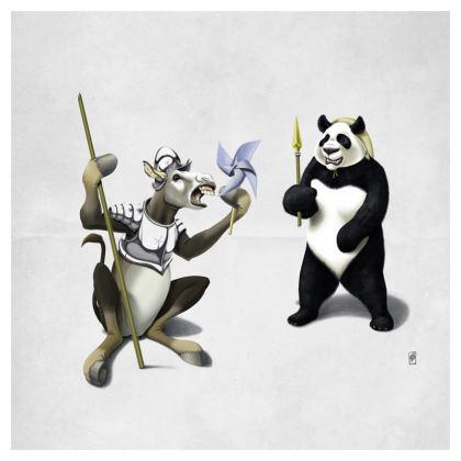 Donkey Xote and Sancho Panda ~ Wordless Animal Behaviour Cushion